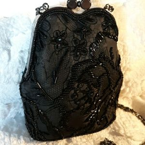 Mini Beaded Evening Crossbody